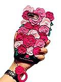 (タコストア) taco store iPhone ケース 派手 & 立体 薔薇 モチーフ で みんなの 視線 を 独り占め 落下 防止 リング 付きで 機能性 抜群 iPhone7plus ピンク