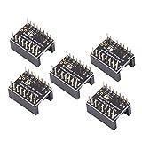 SODIAL 3Dプリンタマザーボードアクセサリ、ステッパモータドライバTMC2100消しゴムフィルタ、3Dプリンタ用A4988 LV8729 DRV8825 TMC2100 TMC2208 TMC2130ドライバ - 5個