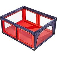 余分な大型Playpen折りたたみ式ベビープレイヤード、ドア安全付き長方形のアンチロールオーバーアクティビティセンターの屋内幼児遊び場 (色 : Red and blue, サイズ さいず : 120×150cm)