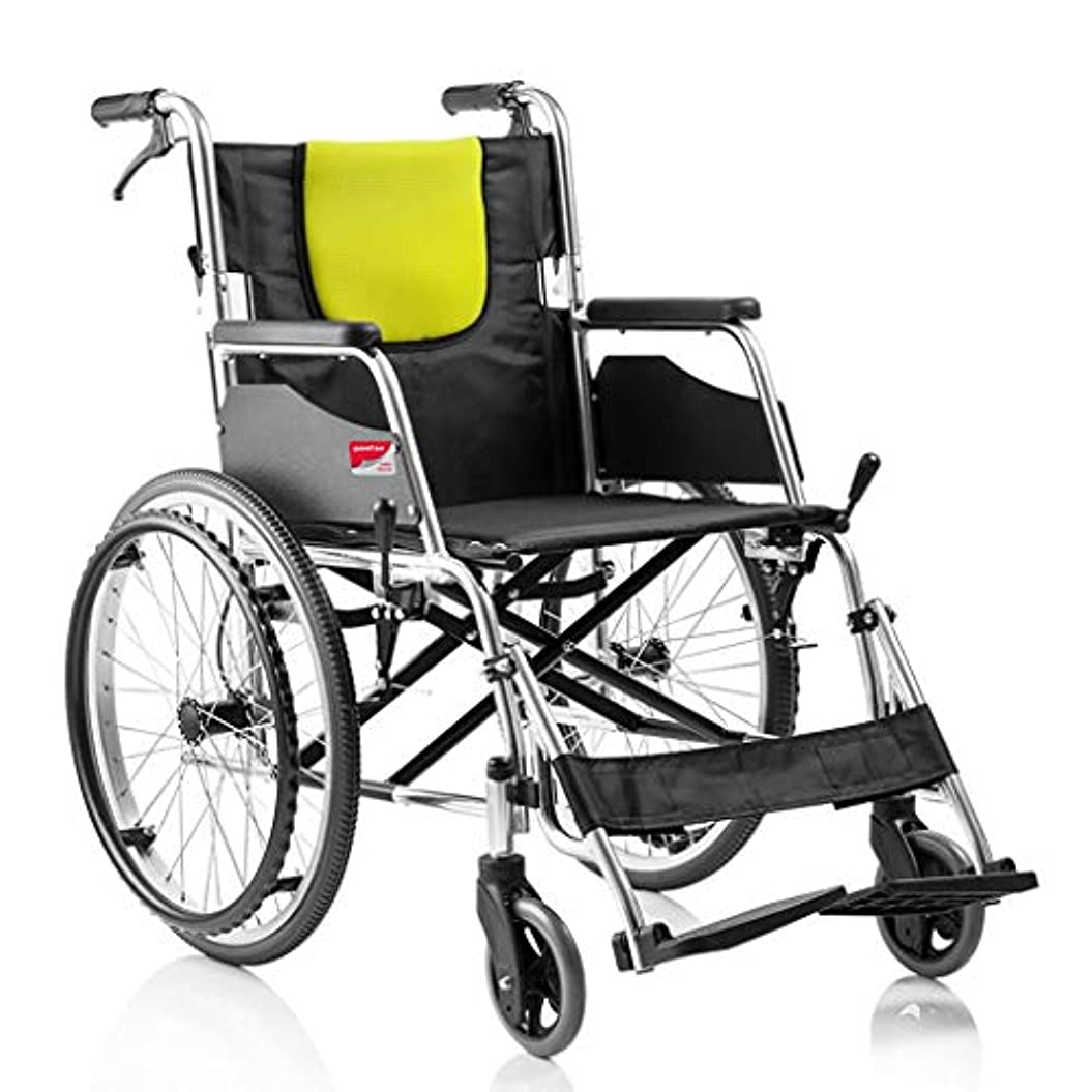 導入する占める自分の車椅子折りたたみ式、手動車椅子無料インフレータブルダブルブレーキデザイン、老人の手押し車椅子