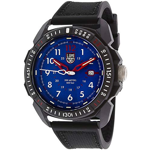 Luminox Men's Ice-Sar Arctic XL.1003 Matte Black Rubber Swiss Quartz Fashion Watch