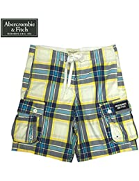 【Abercrombie&Fitch】アバクロンビー&フィッチ サーフ ハーフパンツ ブルー/イエロー チェック Mサイズ
