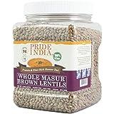 Pride Of India Indian Whole Brown Crimson Masur Lentils Protein & Fiber Rich Masoor Whole,