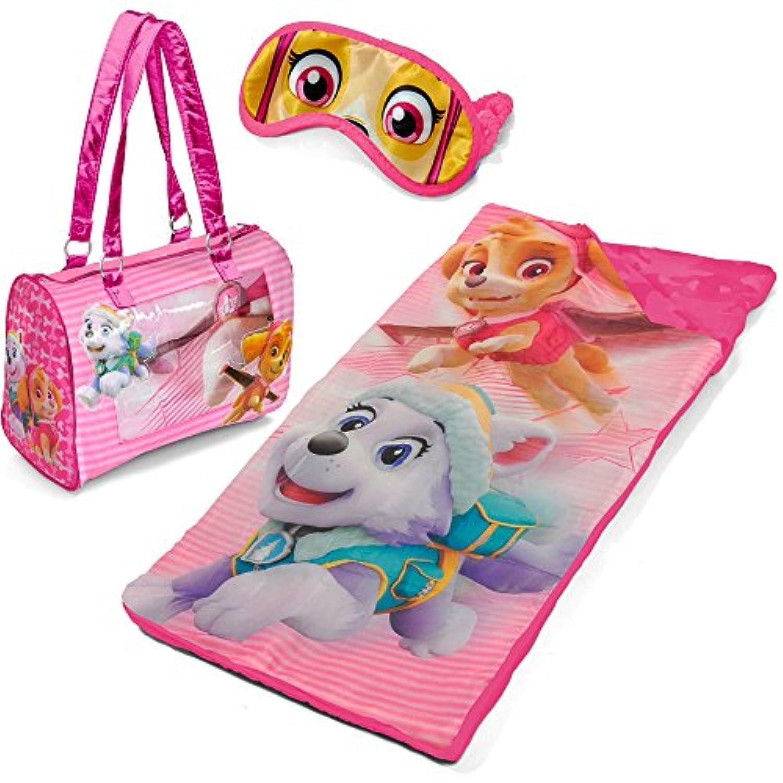 Kids Paw Patrolお泊まり会3 Piece Set with Sleepingバッグ、財布トートバッグと目マスク