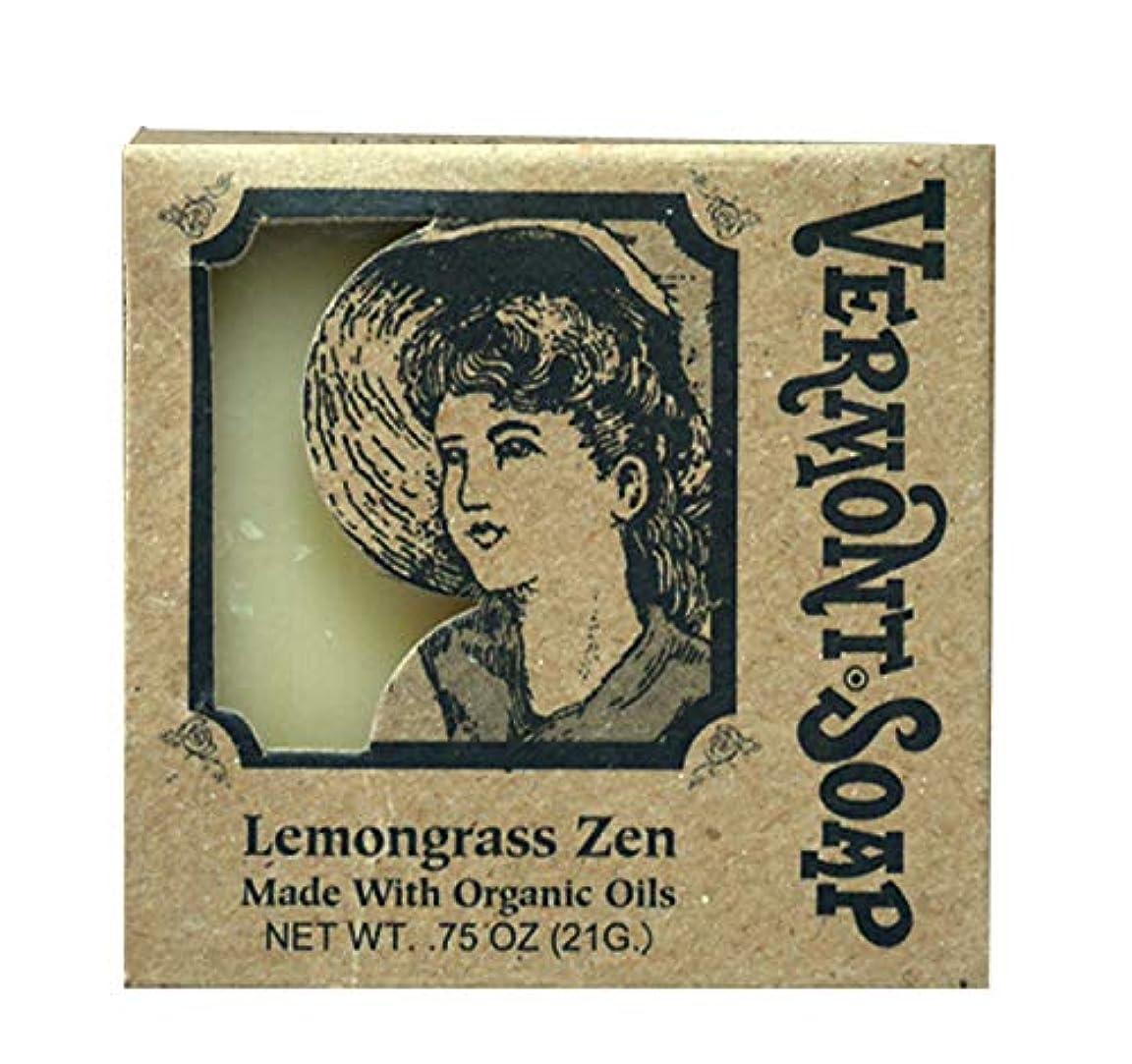 胚コック民族主義バーモントソープ トラベル用 (レモングラス) オーガニック石鹸 洗顔 21g