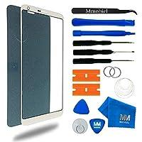 LG G6シリーズ用MMOBIELフロントガラス5.7インチ(ホワイト)ディスプレイ12本入ツールキット