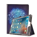 iPad 9.7 インチ 2017 / iPad Air 2 / iPad Air 用 ケース MagicSky スタンド オートスリープ機能 本革調PUレザー 傷防止 落下保護 スマートカバー (iPad 9.7, ホタル)