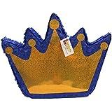 apinata4uロイヤルブルー&ゴールドクラウンPinataプル文字列スタイル