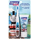 【機関車トーマス】Toddler Thomas Toddler Training Toothpaste with Toothbrush Tooty Fruity 1 oz