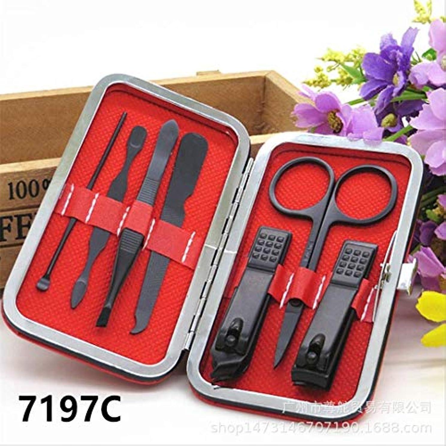 今後香港ラリー爪切りセット16ピースペディキュアナイフ美容プライヤー爪ツール 7197C