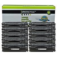 Greencycle 10パックq7553X 53Xブラックトナーカートリッジ互換for HP LaserJet p2014p2015dレーザープリンタ