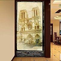 Lixiaoer カスタム3D壁画ドリーム3Dステレオノートルパリのエントランスマップの壁紙カスタムロビー高品質のリビングルーム壁画-250X175Cm