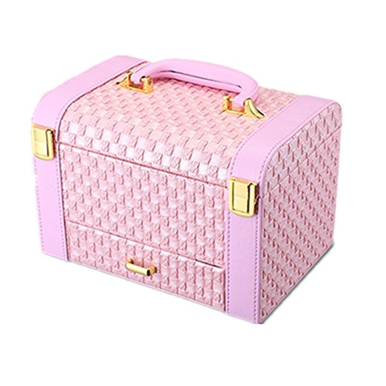 あたりはっきりと花婿化粧オーガナイザーバッグ 小さなものの種類の旅行のための美容メイクアップのポータブル化粧ケース 化粧品ケース