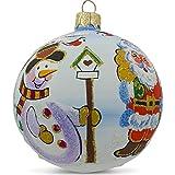 """Best ホームコレクションバードハウス - 3.25"""" Snowman with Bird House and Santaガラスボールクリスマスオーナメント Review"""