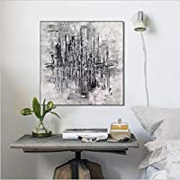 抽象的な手塗りの油絵イメージ絵画壁アートホテルオフィス研究バー装飾インナーフレーム