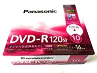 パナソニック(Panasonic) 録画用4.7GB 片面120分 1~16倍速 DVD-R ディスク 10枚入り LM-RC120N10K
