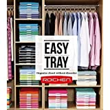 Excelife ROICHEN Easy-Tray Closet Organizer Tray (25pcs) with Folding Board.