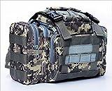 (ボナスティモーロ) Buona stimolo 3way 大容量 フィッシング バッグ タクティカル ミリタリー 釣り アウトドア に ポケット いっぱい 多機能 タックル バック (03:ACU迷彩)