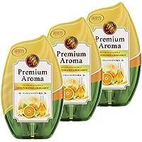 【まとめ買い】 お部屋の消臭力 プレミアムアロマ Premium Aroma 消臭芳香剤 部屋用 部屋 スイートオレンジ&ベルガモットの香り 400ml×3個