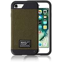 iPhone 8 iPhone 7 ケース 【ROOT CO.】 衝撃 吸収 米軍MIL規格 コーデュラファブリック GRAVITY Shock Resist Fabric / カーキ (ワイヤレス充電非対応)