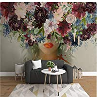 Mingld カスタム壁画壁紙現代の手描きの水彩画バラの花フィギュア写真壁画リビングルームステッカー-150X120Cm