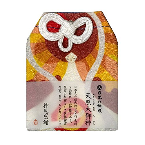 <『日本の神様カード』の神々がお守り袋に>「日本の神様」神恩感謝お守り アマテラスオオミカミ