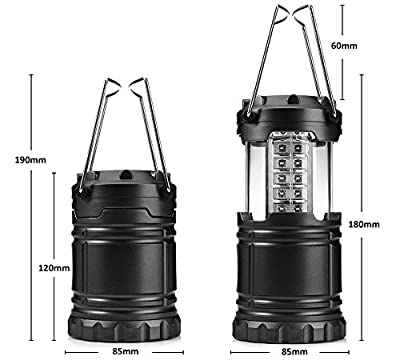 GBTIGER LED Camping Lanterns Lights, Ultra Bright Water Resistant Collapsible 30 LED Tent Lights for Hiking Emergencies.