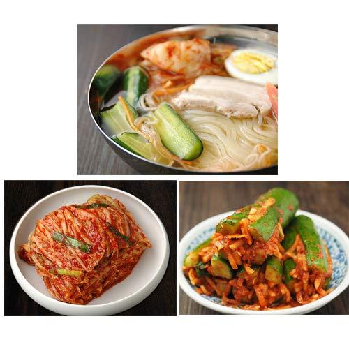 韓国冷麺8食と白菜キムチ300g、オイソベギ4切れセット プロが選ぶ業務用冷麺と本格キムチ(ギフト・中元 歳暮)【冷蔵限定】【送料無料】