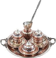 2つの従来のデザインハンドメイド銅トルココーヒーエスプレッソTeaセット( cs2–108)