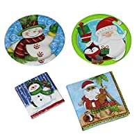 Creative Converting 24Paper Plates and 36ナプキンPlace設定セット–Holiday Fun