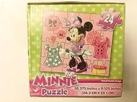 Minnieマウス24ピースジグソーパズルキュートなキューブボックスで初心者の方3+