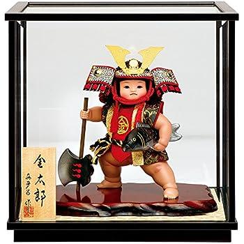五月人形 真多呂 金太郎 ケース飾り 武者人形 真多呂作 ケース付 h315-mtk-3552-045