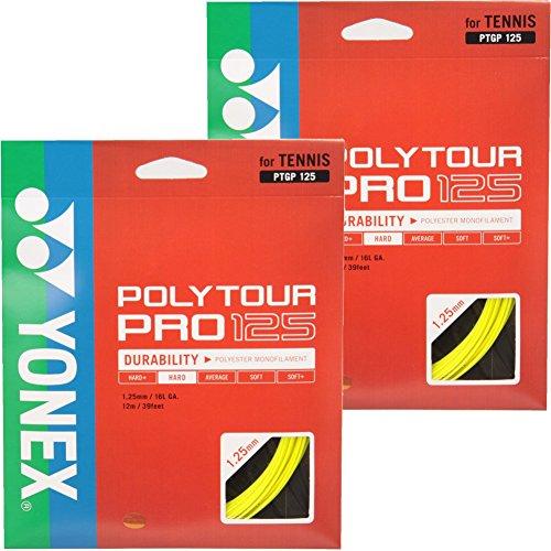 YONEX(ヨネックス) ポリツア-プロ 125 ゲージ1.25mm フラッシュイエロー 2張りセット PTGP125-557-2SET