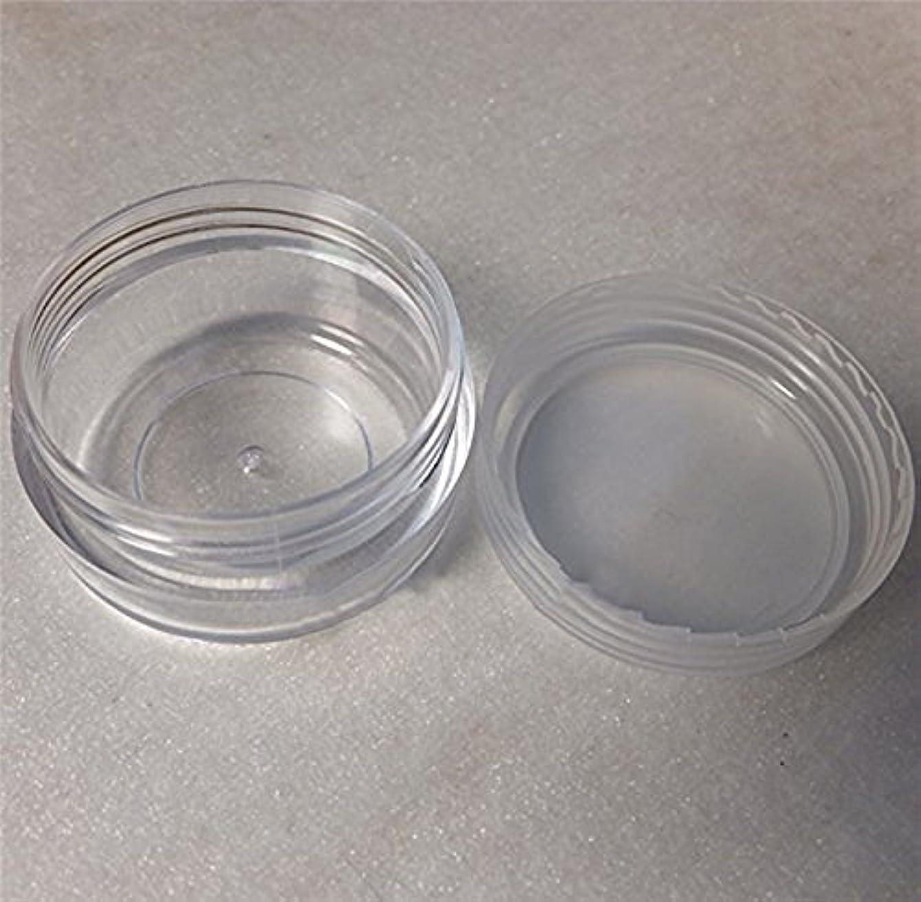エピソードごめんなさい出発するLautechco 旅行用 化粧品 小分け容器 クリームケース 詰め替え容器  透明 10g 50本セット