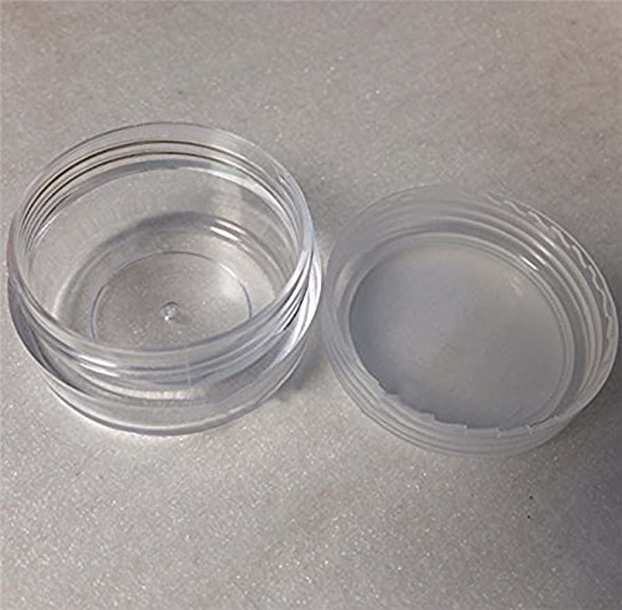 茎楕円形平らにするLautechco 旅行用 化粧品 小分け容器 クリームケース 詰め替え容器  透明 10g 50本セット