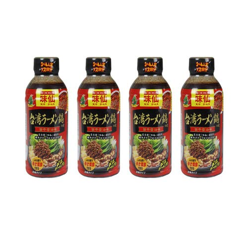 「名古屋名物」味仙 台湾ラーメン鍋の素(濃縮タイプ) 監修 郭政良 4本セット