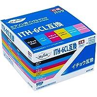 【ネット限定】 G&G インクカートリッジ <EPSON(エプソン) ITH-6CL互換 イチョウ 6色セット ICチップ付残量検知対応> EITH-6P 互換インクカートリッジ [EP-710A/EP-810AB/EP-810AW/EP-709A対応]【国際規格ISO9001品質】