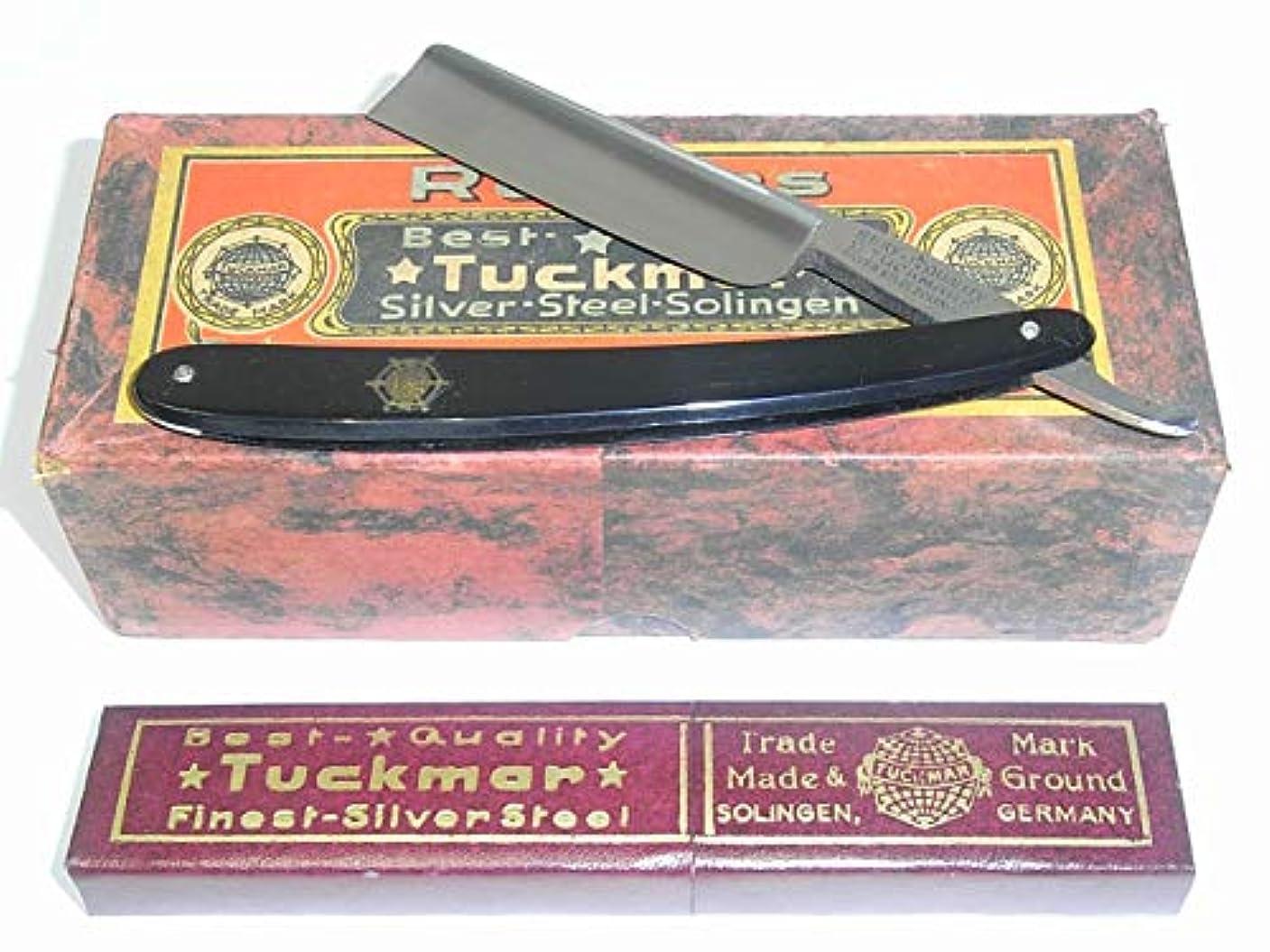 資源二統治する西洋カミソリ ゾーリンゲン TUCKMAR ドイツ製 刃渡72mm×刃幅6/8インチ 外箱付