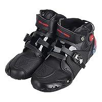 プロテクトスポーツ ショートブーツ メンズオートバイ靴 レーシングブーツ バイクブーツ SPEED BIKERS 41サイズ (25.5-26cm) ブラック