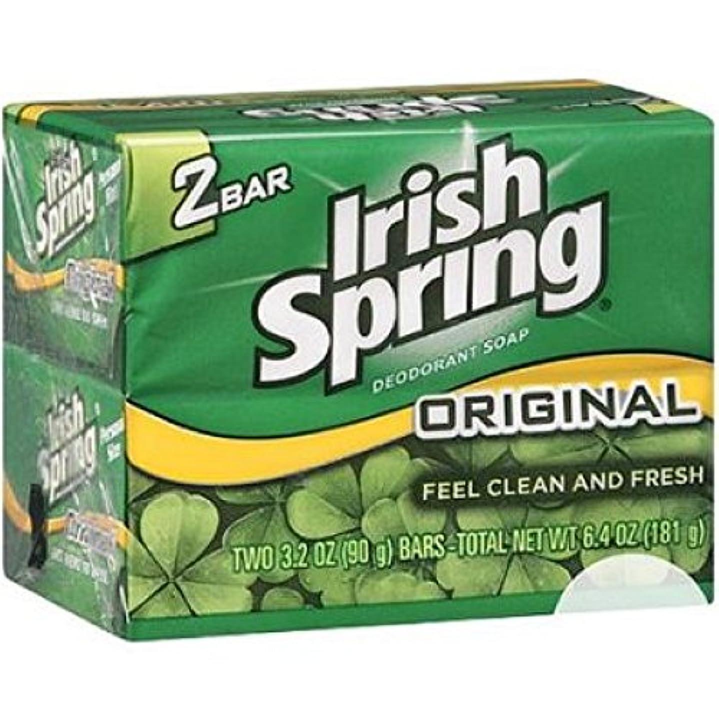 腐敗した抹消落胆するIrish Spring オリジナルデオドラント石鹸、3.20オズバー、2 Eaは 8パック