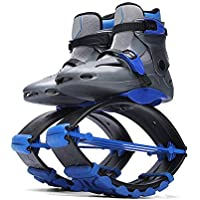 Jumping Shoes Relieve Shock Kangaroo Bouncing Shoes for Sport Fitness Basketball Speed Agility Training,Gray,30/32