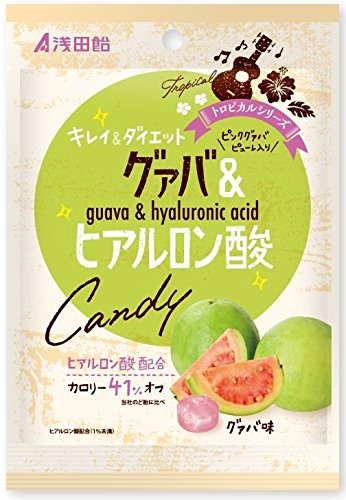 浅田飴 グァバ&ヒアルロン酸キャンディー 50g×6袋...