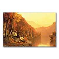 Trademark Fine Art Shawanagunk Mountains, Autumn by Jervis McEntee キャンバスウォールアート 24 by 47-Inch BL0572-C2447GG