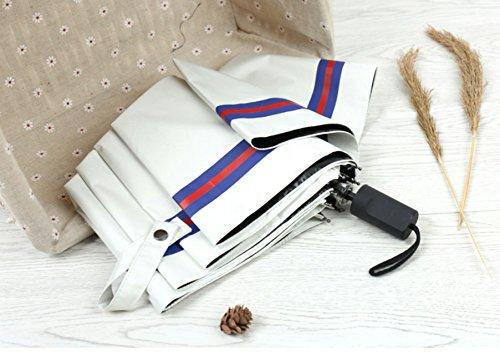 折り畳み傘 高級ファブリック(FIBERGL ASS材質) 8本骨 UVカット率約99% 軽量設計 撥水加工 耐風 遮光遮熱 収納ポーチ付き
