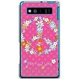 CaseMarket 【ポリカ型】 au AQUOS PHONE SERIE SHL21 ポリカーボネート素材 ハードケース [ ピース & ラブフラワー ]