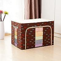 衣類収納ケース 不織布製 花柄 通気性に優れた生地で、洋服やタオル収納に最適! 100L