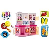Tinyシェフキッチン子供のおもちゃ子供のおもちゃキッチンプレイセットW /点滅ライト、音楽、アクセサリーLike Realキッチン