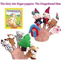 ychoice面白いFinger Puppets Toy Ten Pieces The Ginger Bread Man Story Telling袋バッグFinger Puppets