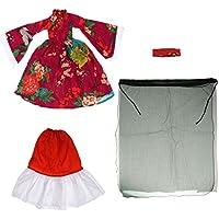 KOZEEY1/3 BJD SD DOD ドルフィー ヴィンテージ 中国古代 ドレス セット 赤 紫