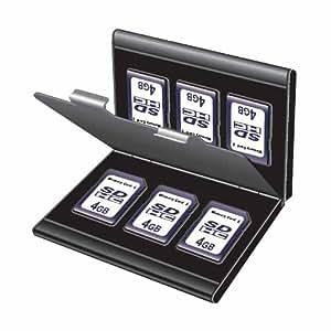 Digio2 SDメモリーカードケース ダブルタイプ(丈夫なアルミ素材) ブラック MCC-1100BK